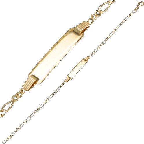 333 Goldarmkette 16,5 cm mit Gravur