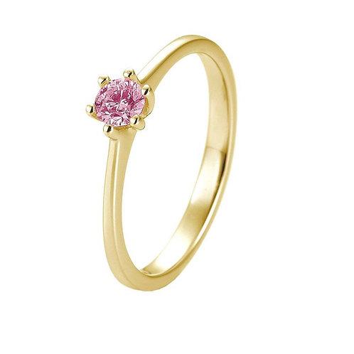 Verlobungsring 585 Gold mit Brillant