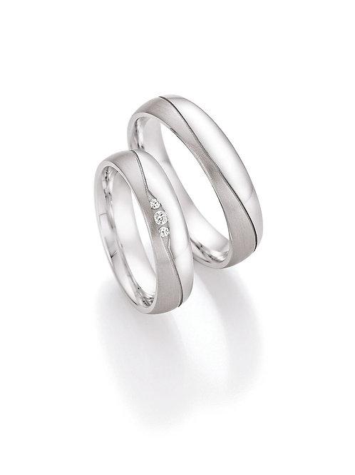 Eheringe Verlobungsringe Partnerringe Silber mit Diamant