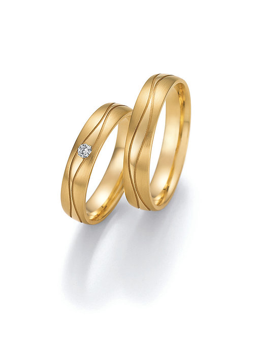 Hochzeitsringe Gelbgold oder Weißgold mit Brillant