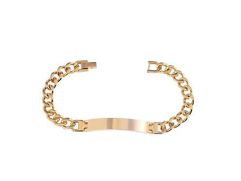 Edelstahl Armkette PVD Gold mit kostenloser Gravur