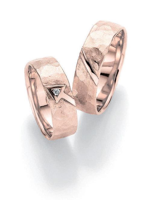 Paar Eheringe Verlobungsringe Symbolringe in Gelbgold Weissgold mit Diamant Amor
