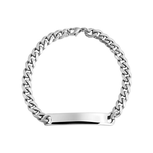 Armkette aus Edelstahl + Gravur