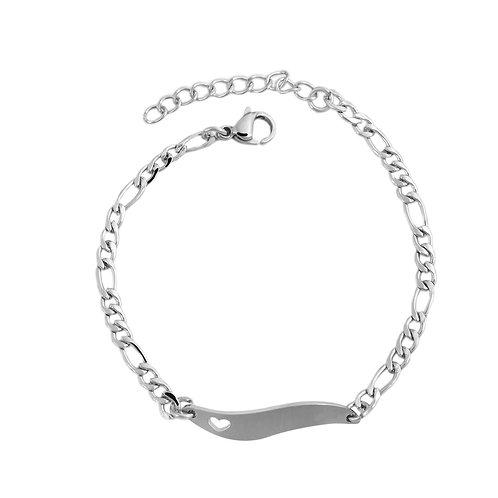 15 - 18cm Edelstahlarmkette für Kinder und Damen mit kostenloser Gravur