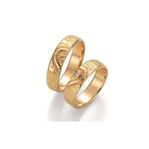 Paar Eheringe Verlobungsringe Partnerring Gold 585 Weissgold Diamant Symbolring
