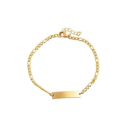 Armkette aus Edelstahl IP Gold + Gravur