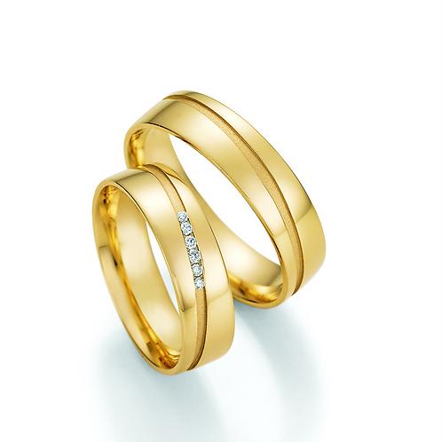 Trauringe aus Gold oder Weißgold mit Brillant