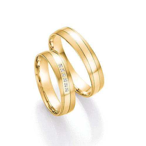 Eheringe Verlobunsringe Hochzeitsringe Gold / Weißgold mit Briallant