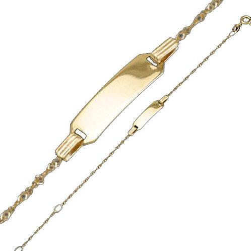 333 Goldarmkette 14 cm mit Gravur