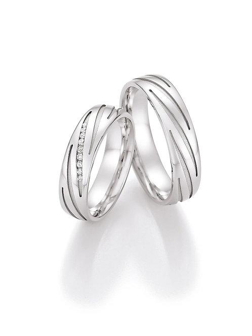 Eheringe in 925 Silber mit Diamant