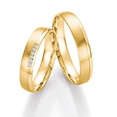 Eheringe Verlobunsringe Hochzeitsringe Gold / Weißgold mit Brillant