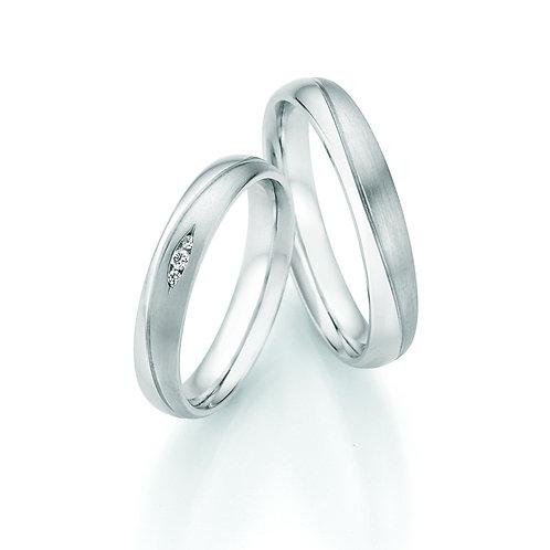 Trauringe aus Silber 925 mit Diamant