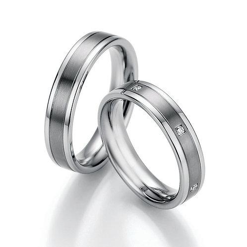 Trauringe Eheringe Verlobungsringe Titan/Steel mit Diamant