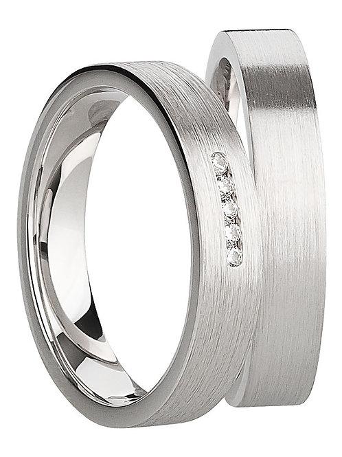 Ringe Silber925 mit Zirkonia - rhodiniert