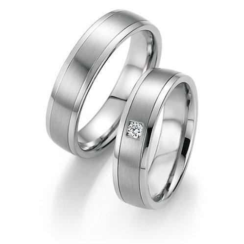 Eheringe aus Steel 316L mit Diamant