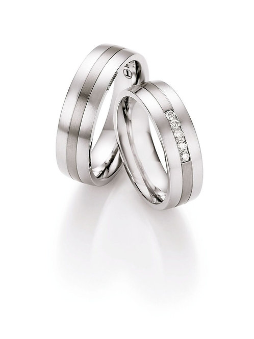 Eheringe Verlobungsringe Titan/Steel mit Diamant