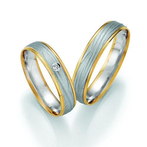 Eheringe  Gold Bicolor mit Diamant