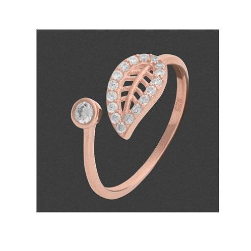Ring Damenring Zirkonia 925 Silber rosé vergoldet