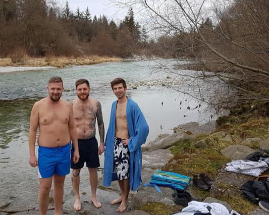 FOP-Alzanschwimmen bei 4 Grad