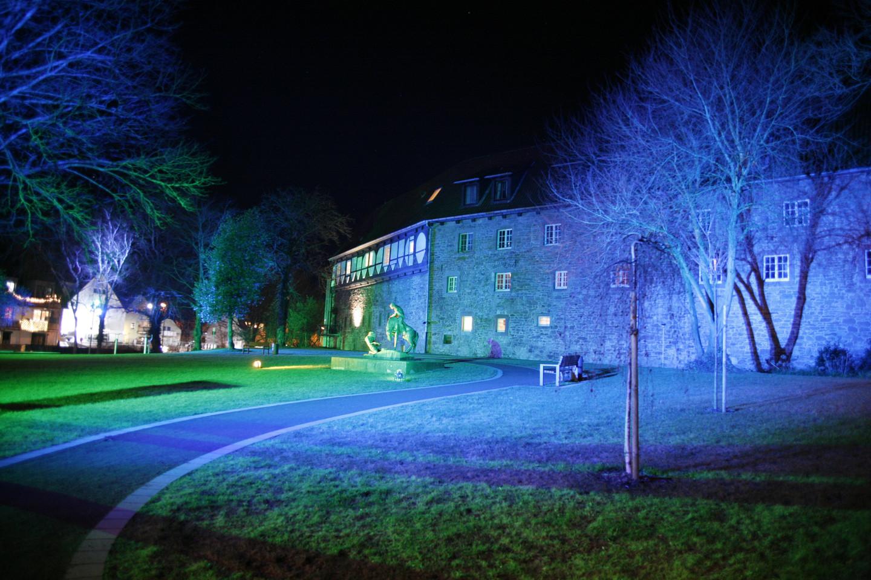 im historischen Stadtkern von Blomberg findet man den Burggarten