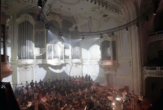 Durchlaufprobe mit Chor und Orchester