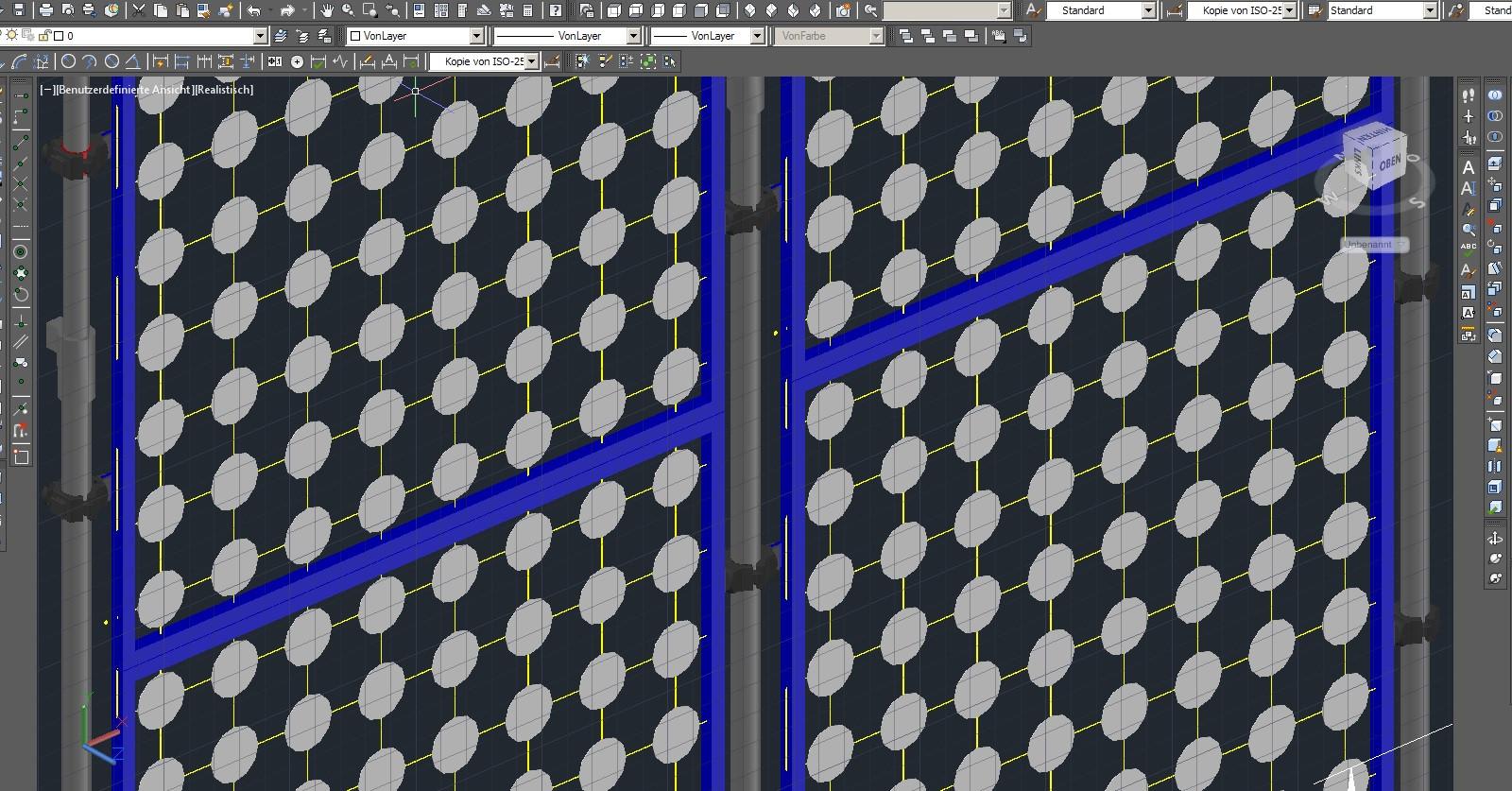 Visualisierung und Ausführungsplanung der Bierdeckelwand