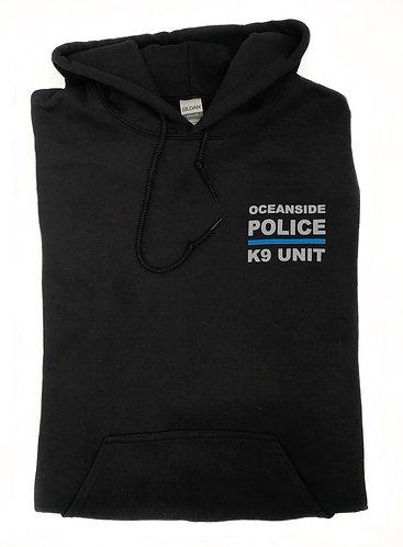 K9 Black Hooded Sweatshirt