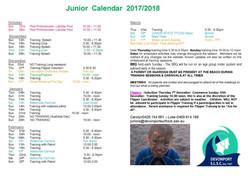 Junior Calendar 2017-18