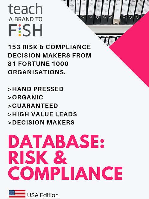 153 Risk & Compliance Leaders from Fortune 30 to Fortune 1000 Enterprises