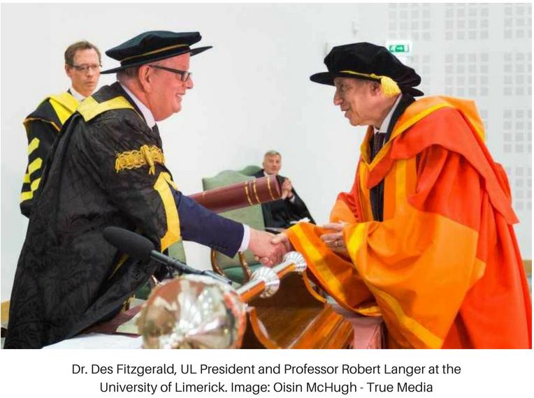 MIT Institute Professor Robert S. Langer Receives Doctorate from University of Limerick