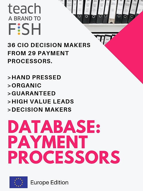 36 Payment Processors Leaders from Fortune 30 to Fortune 1000 Enterprise