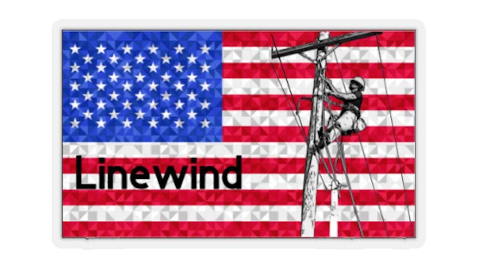Linwind Climbing Flag Stickers