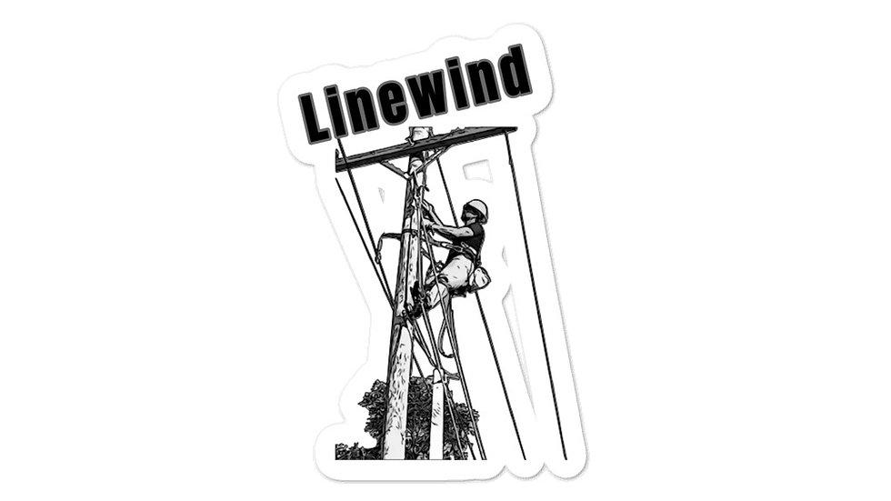 Bubble-free stickers Linewind Lineman Climbing