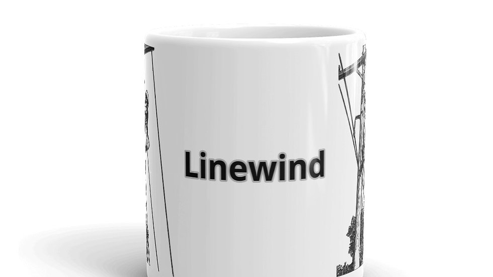 Mug Linewind Lineman Climbing