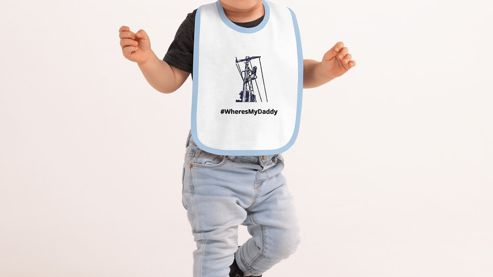 #WheresMyDaddy Lineman Baby Bib