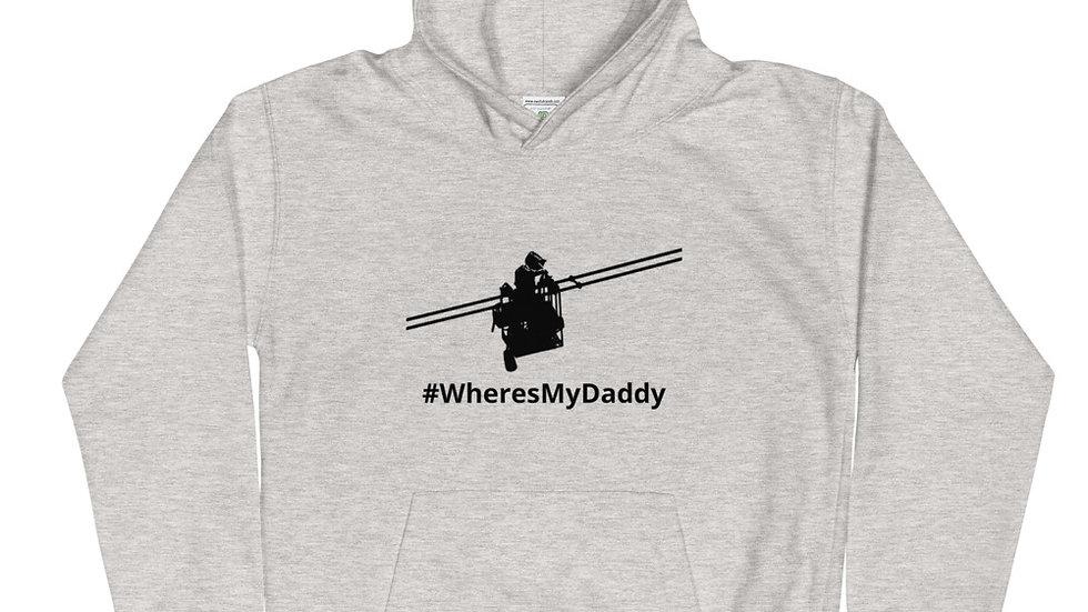 Kids Hoodie #WheresMyDaddy Lineman Cart