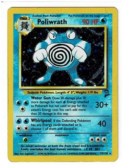 Pokemon Base Set 2 Poliwrath Front