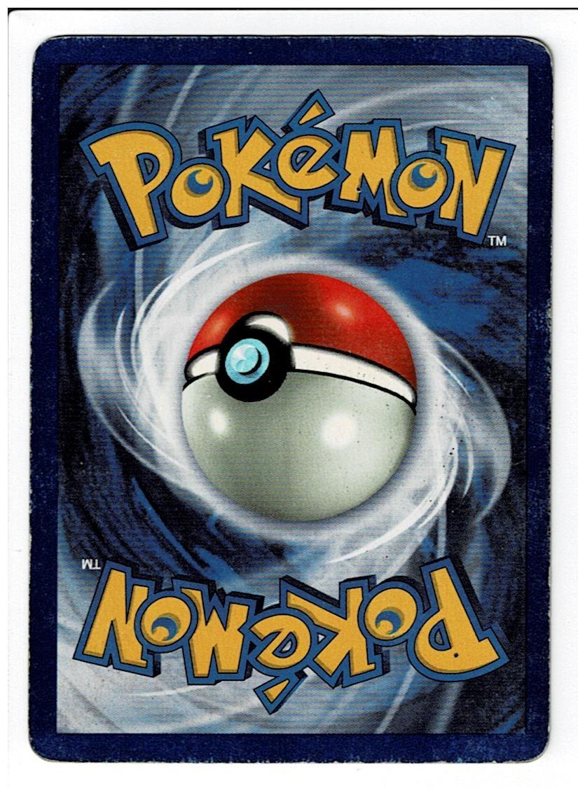 Pokemon Base Set Poliwrath Back
