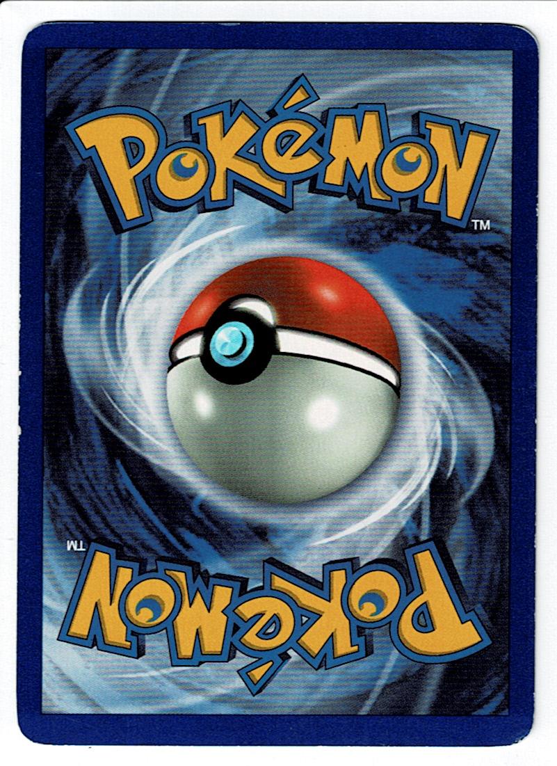 Pokemon Base Set Zapdos Back