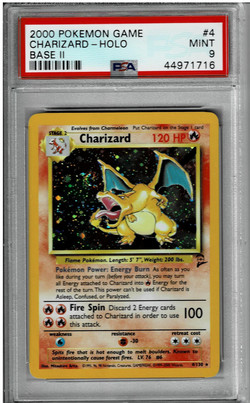 Pokemon Base Set 2 Charizard PSA 9