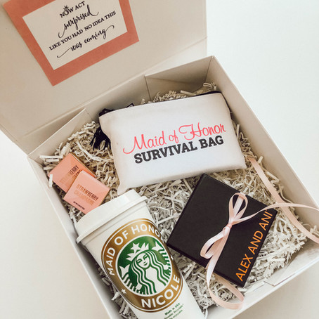 How I Asked- Creative Bridesmaid boxes