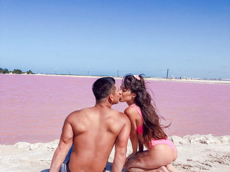 No Filter Needed For The VERY Real Pink Lake""