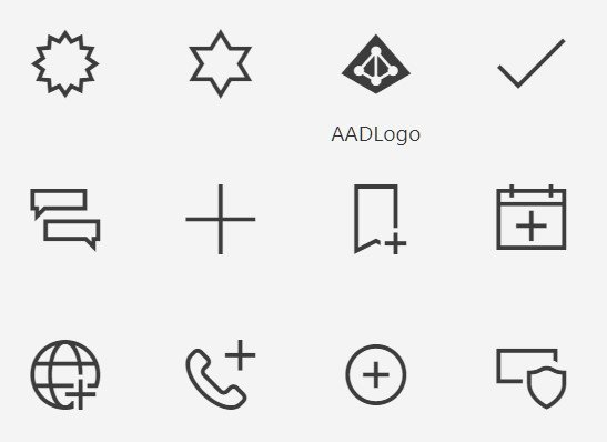 list of icons