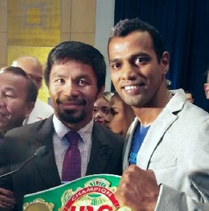 Siddharth Varma with Manny Pacquiao