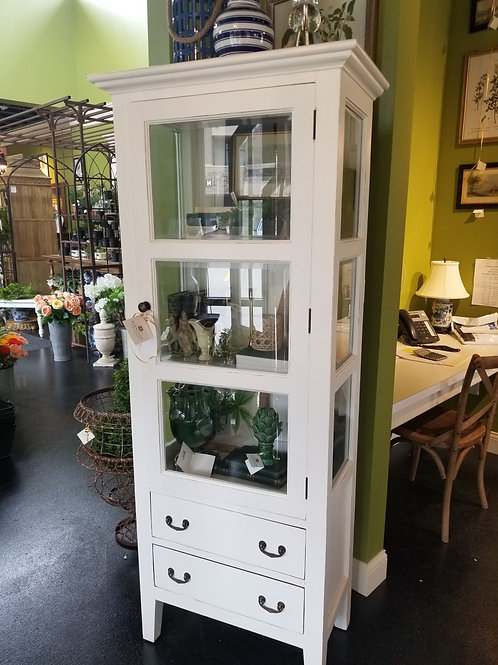 White & Glass Cabinet