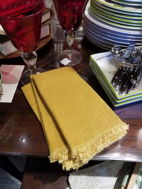 Fringe Napkin in Mustard