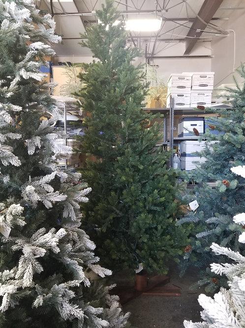 9ft tall green Christmas tree