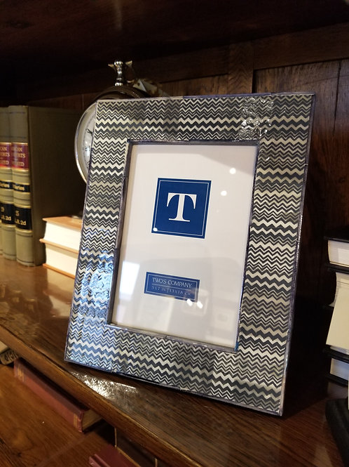 Blue & White Picture Frame