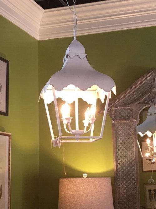 White Metal Lantern Light Fixture