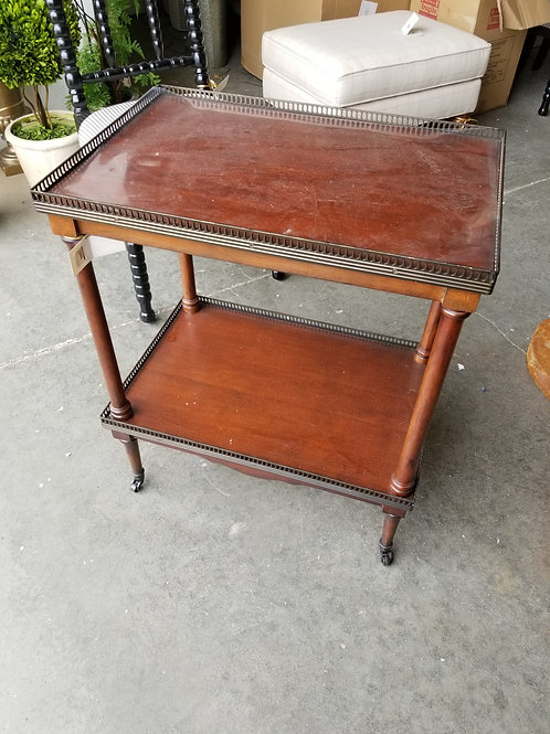 Wood Cart/ Side Table